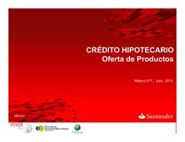 Santander Hipotecario Oferta de Productos