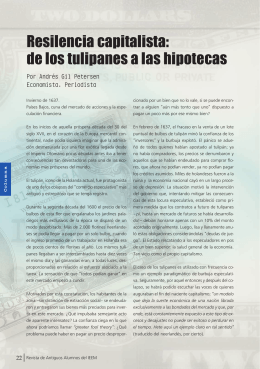Resilencia capitalista: de los tulipanes a las hipotecas