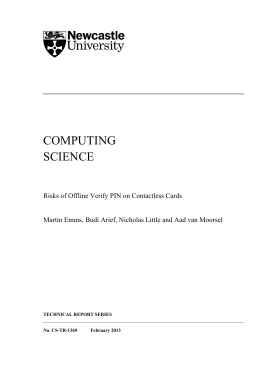 COMPUTING SCIENCE - Newcastle University