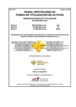 RURAL HIPOTECARIO XII FONDO DE TITULIZACIÓN DE ACTIVOS