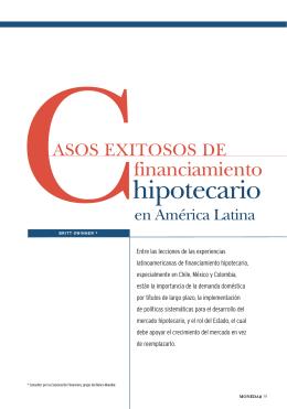 Casos exitosos de financiamiento hipotecario en América Latina