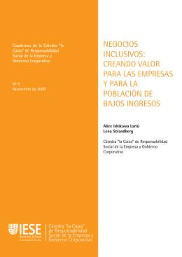 Negocios inclusivos: creando valor para las empresas y para