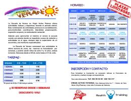 8:30 – 13:00 8:30 – 17:00 85€ 115€ 164€ 220€ 243