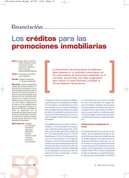 Los créditos para las promociones inmobiliarias