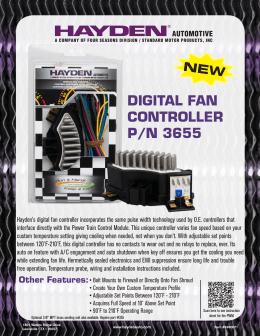DIGITAL FAN CONTROLLER P/N 3655