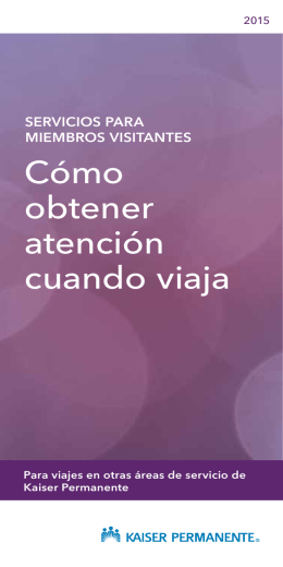 Visiting member brochure (Spanish)