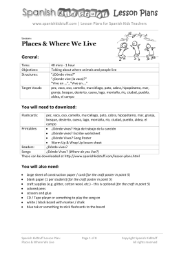 Places & Where We Live