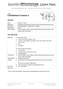 Christmas Lesson 2