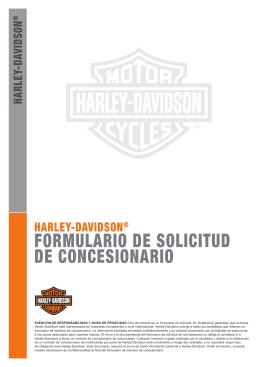 Solicitud para Nuevos Concesionarios - Harley
