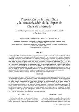 Preparación de la fase sólida y la caracterización de la dispersión