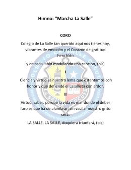 """Himno: """"Marcha La Salle"""""""