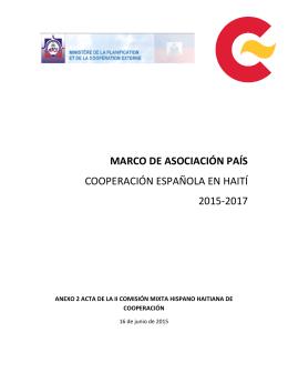 MAP Haití 2015-2017 - cooperacionespanola.es