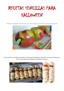 Recetas sencillas para Halloween, PDF