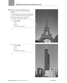 Análisis de tipos de estructuras (I)