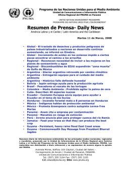Resumen de Prensa- Daily News - Programa de las Naciones