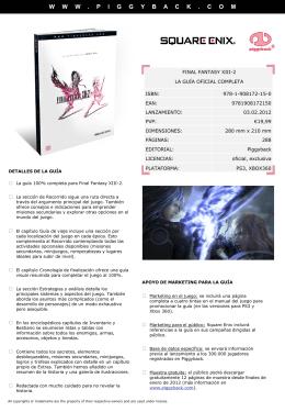 final fantasy xiii-2 la guía oficial completa isbn: 978-1-908172-15