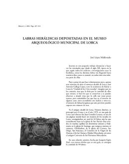 labras heráldicas depositadas en el museo arqueológico municipal