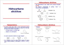 Hidrocarburos alicíclicos Hidrocarburos alicíclicos