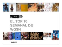EL TOP 10 SEMANAL DE WGSN