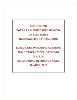 Instructivo Autoridades de Mesa. - Tribunal Superior de Justicia de