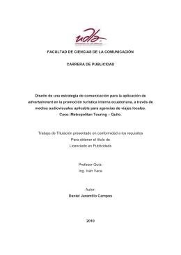 FACULTAD DE CIENCIAS DE LA COMUNICACIÓN CARRERA DE