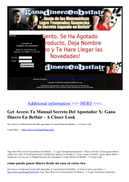 Get Access To Manual Secreto Del Apostador X