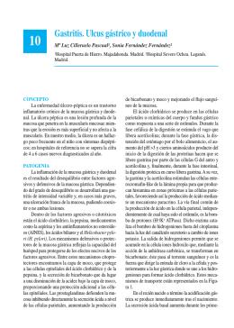 Gastritis. Ulcus gástrico y duodenal