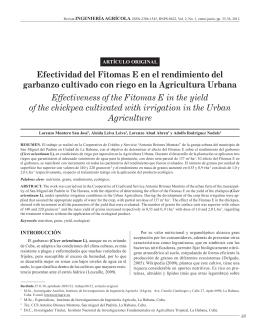 Efectividad del Fitomas E en el rendimiento del garbanzo cultivado
