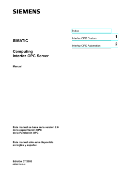 Computing Interfaz OPC de servidor