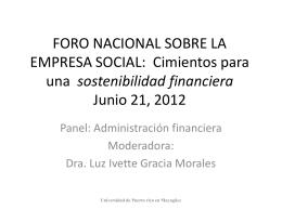 Cimientos para una sostenibilidad financiera