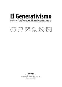 El Generativismo, desde lo transformacional hasta lo