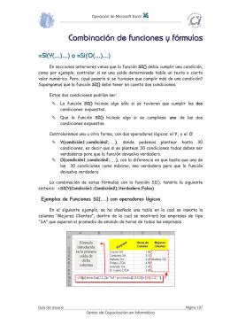 Combinación de funciones y fórmulas