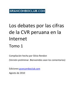 Los debates por las cifras de la CVR peruana