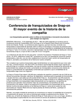 SFC: El mayor evento de la historia de la compañìa - Snap-on