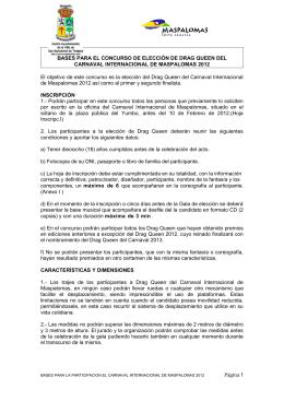BASES PARA EL CONCURSO DE ELECCIÓN DE DRAG QUEEN