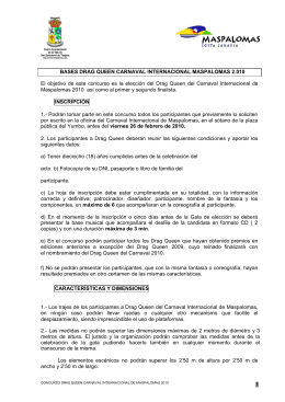 BASES CONCURSOS DE MURGAS 2010