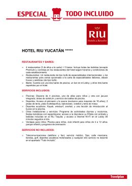 HOTEL RIU YUCATÁN *****