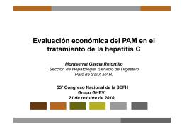 Evaluación económica del PAM en el tratamiento de la hepatitis C