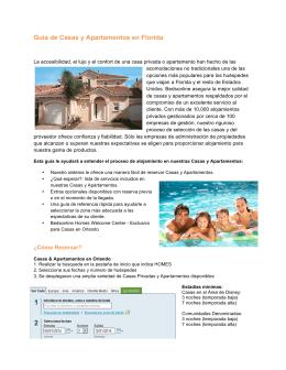 Guía de Casas y Apartamentos en Florida