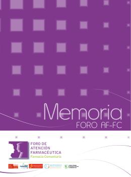 MEMORIA, Foro AF-FC