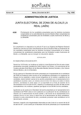 Edicto - Boletín Oficial de la Provincia de Jaén