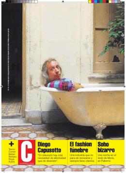 El fashion fúnebre Soho bizarro Diego Capusotto