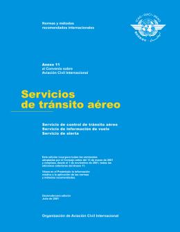 Servicios de tránsito aéreo