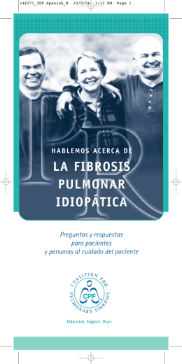 LA FIBROSIS PULMONAR IDIOPÁTICA
