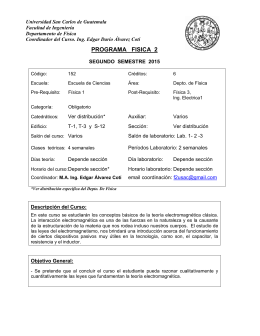 PROGRAMA FISICA 2 - Departamento de Física