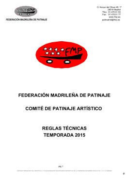 Reglamento FMP - Federación Madrileña Patinaje