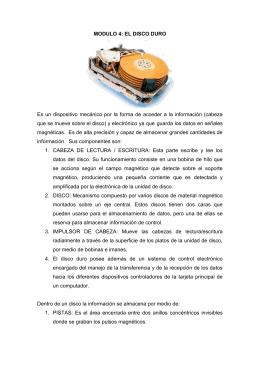 MODULO 4: EL DISCO DURO