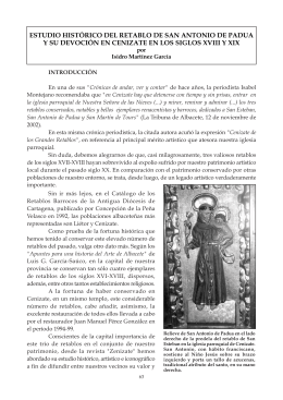 estudio histórico del retablo de san antonio de padua y su devoción