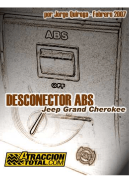 Desconectador de ABS en un GRAND CHEROKEE