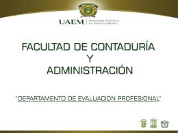 univerisidad autonoma del estado de mexico facultad de contaduría